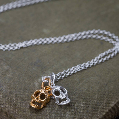 Double Skulls Necklace
