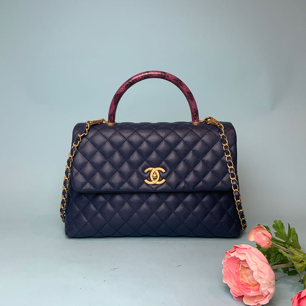CHANEL • Coco Handle • Blue -- RESERVED