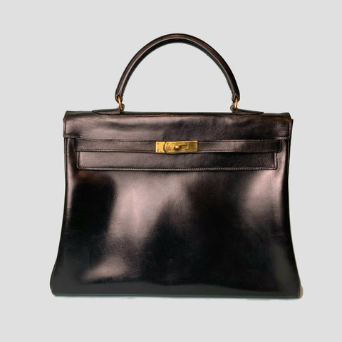 HERMES • Kelly 35 • Black