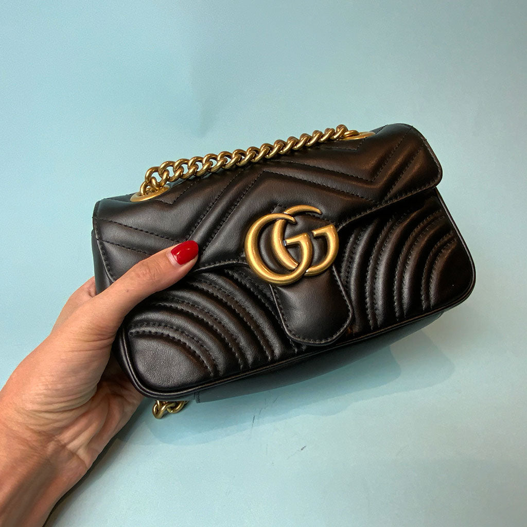 GUCCI • Marmont Mini • Black
