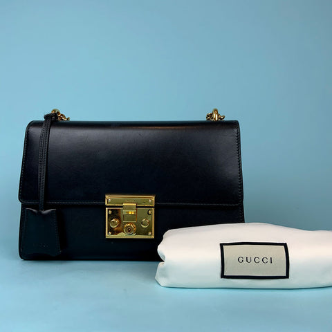 GUCCI • Flap Bag • Black