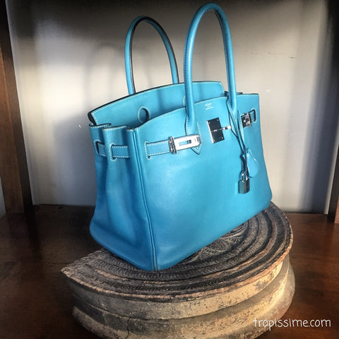 HERMES Birkin 30 Swift Bleu Jean - RESERVED