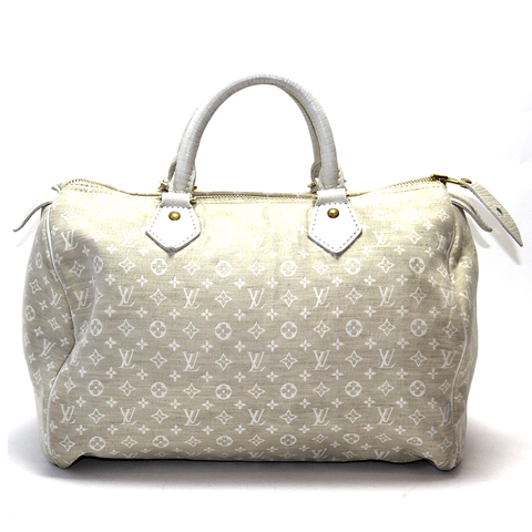 LOUIS VUITTON Mini Lin Speedy 30
