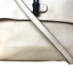 GUCCI • Bamboo Shopper • Off White