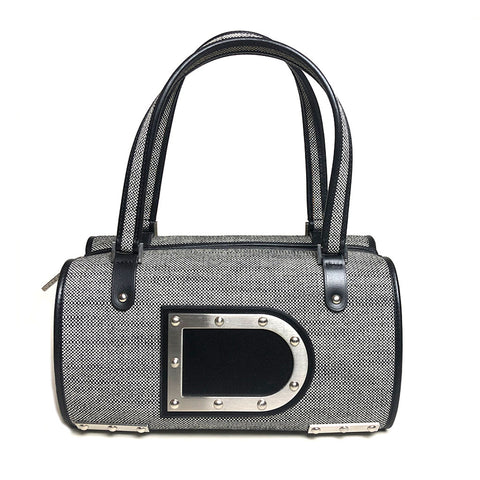 DELVAUX • Astrid Boston PM • Black/White