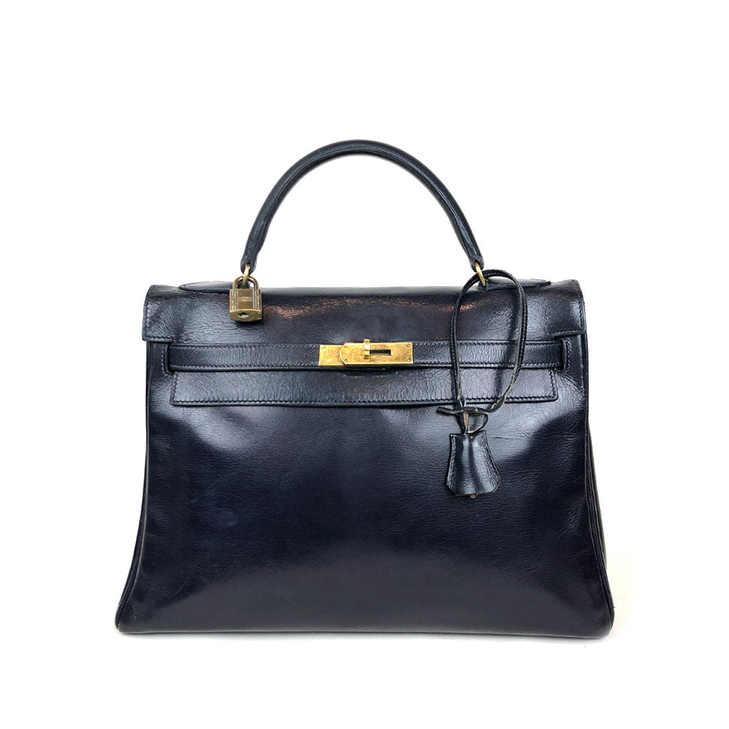 HERMES • Kelly 32 • Blue