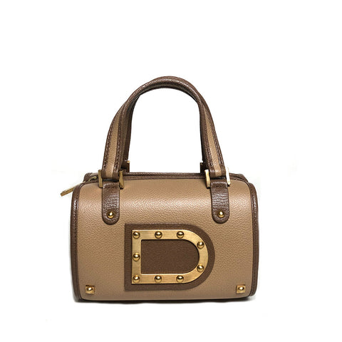 DELVAUX • Astrid Boston Mini • Brown
