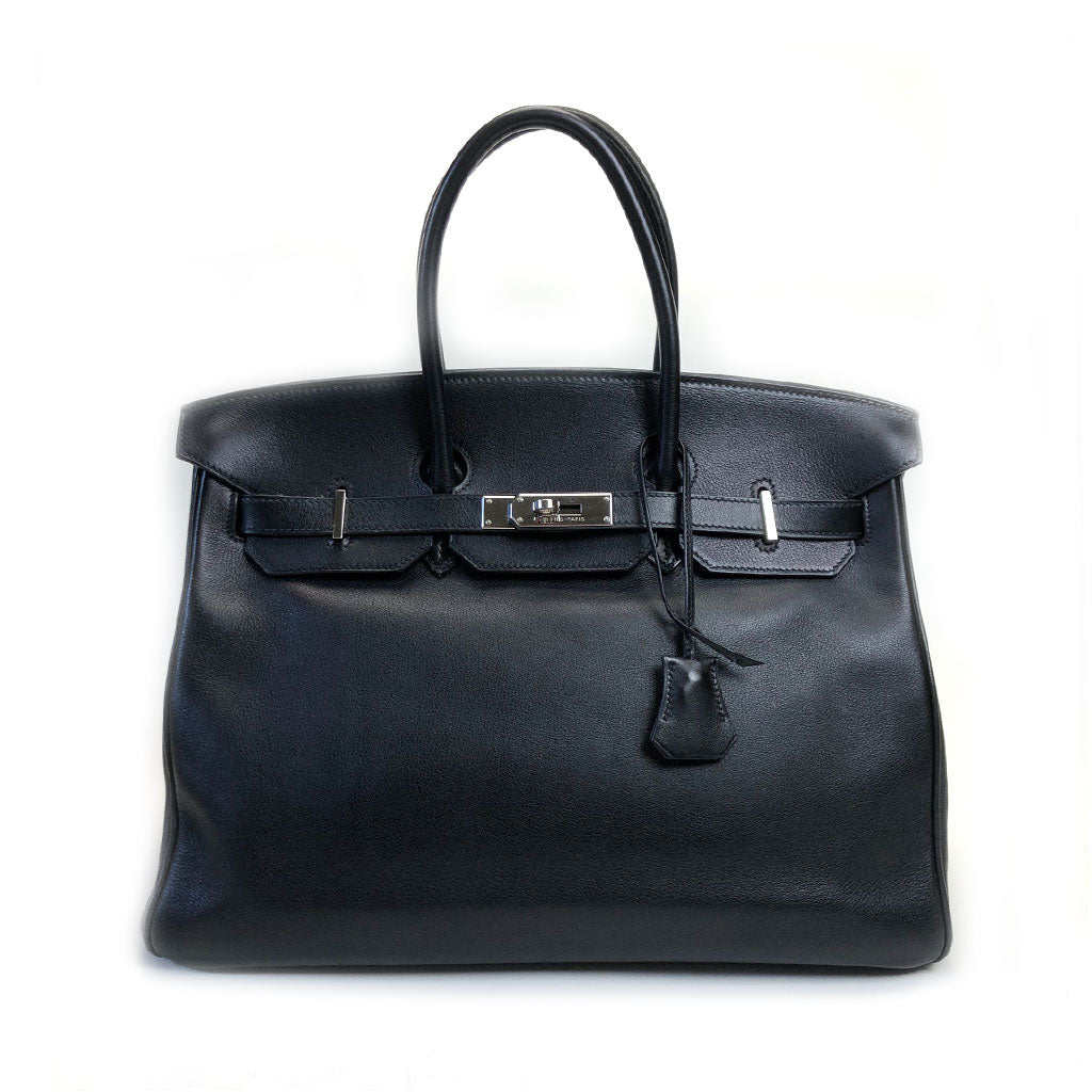HERMES • Birkin 35 swift  • Black