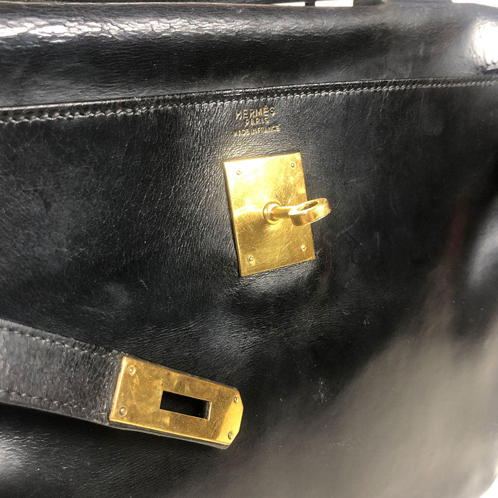 HERMES • Kelly 32 • Black