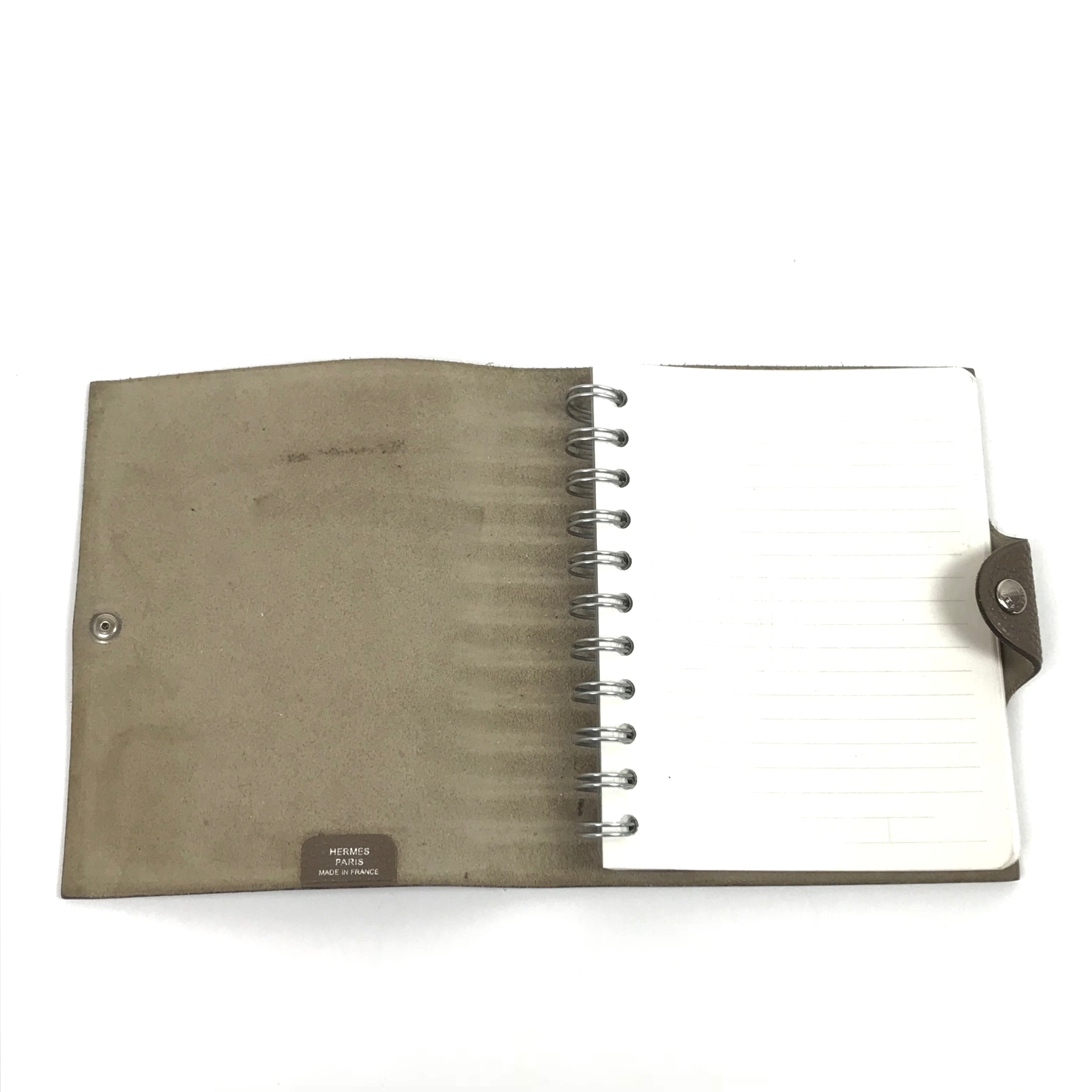 HERMES Ulysse Notebook Cover Taupe PM - RESERVED