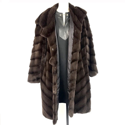 JACQUES CHUDERLAND Fur Coat Brown