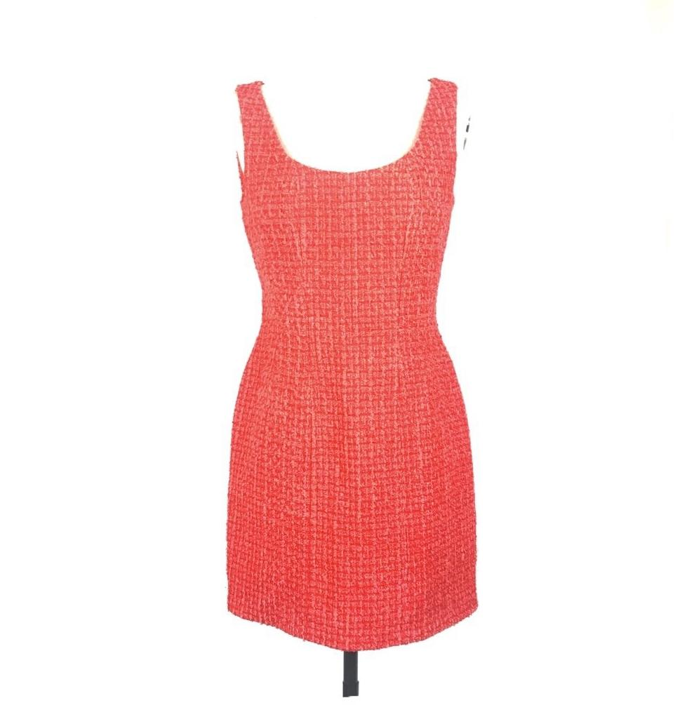 CHANEL Mini Red Dress - Size 38