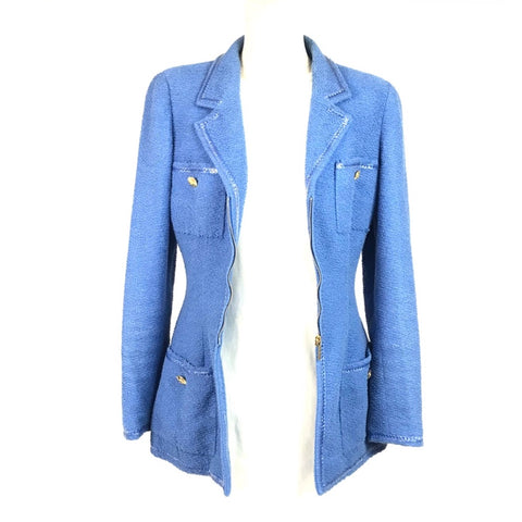 CHANEL Jacket Blue - size 42