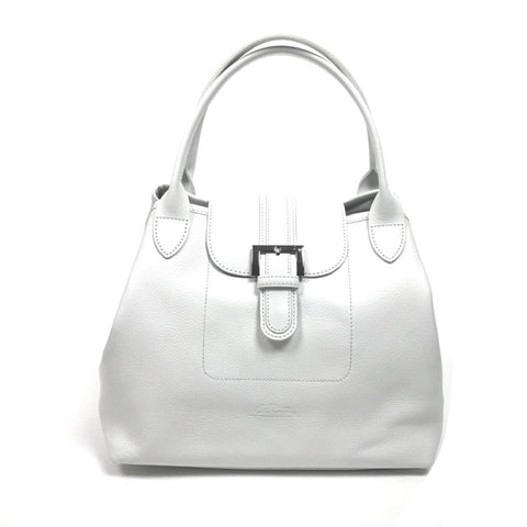 LONGCHAMP White Leather