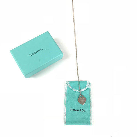 TIFFANY & CO Necklace Heart Silver