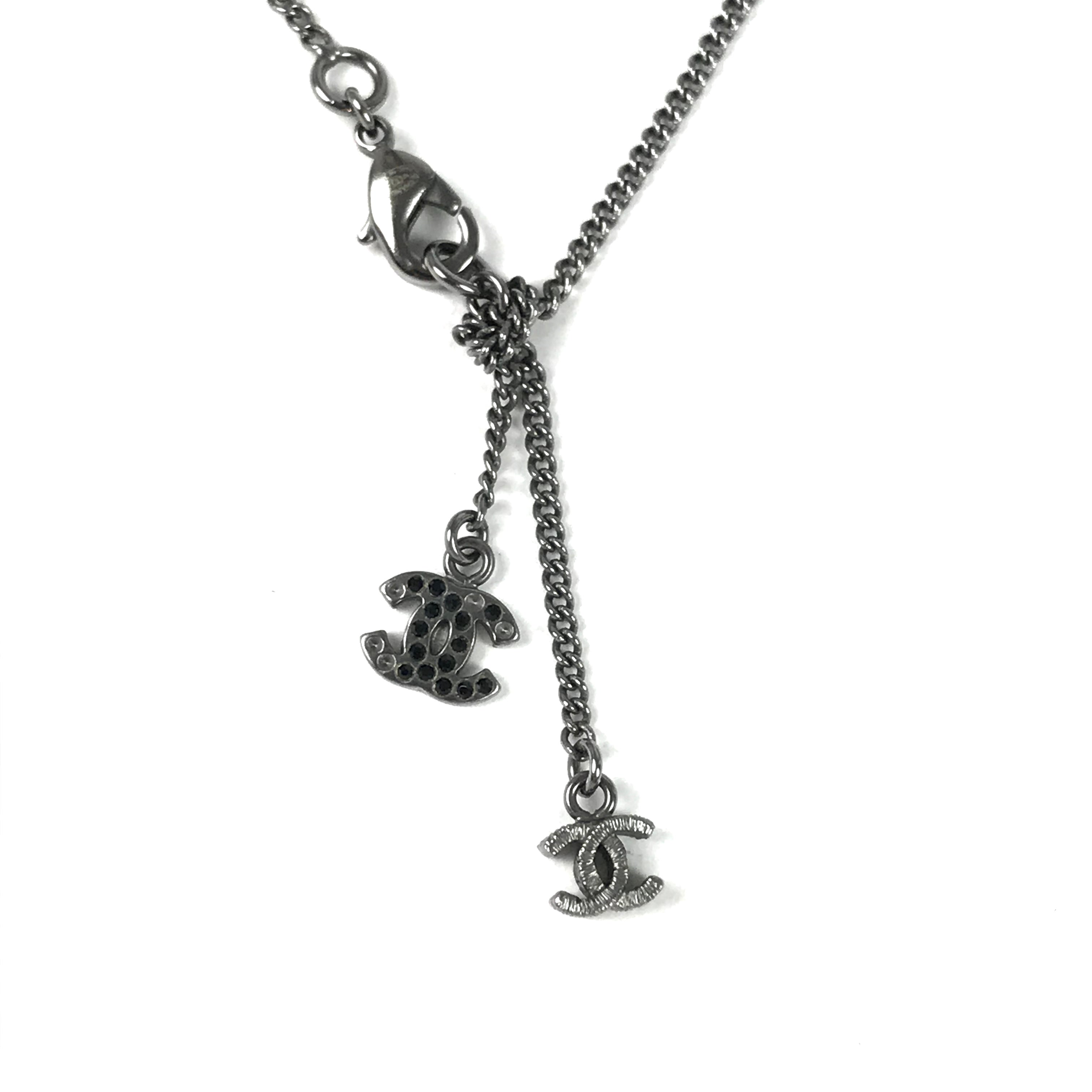 CHANEL Necklace Silver