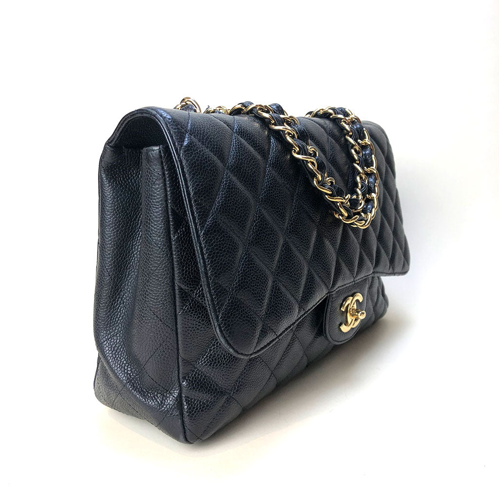 CHANEL • Timeless Jumbo • Black