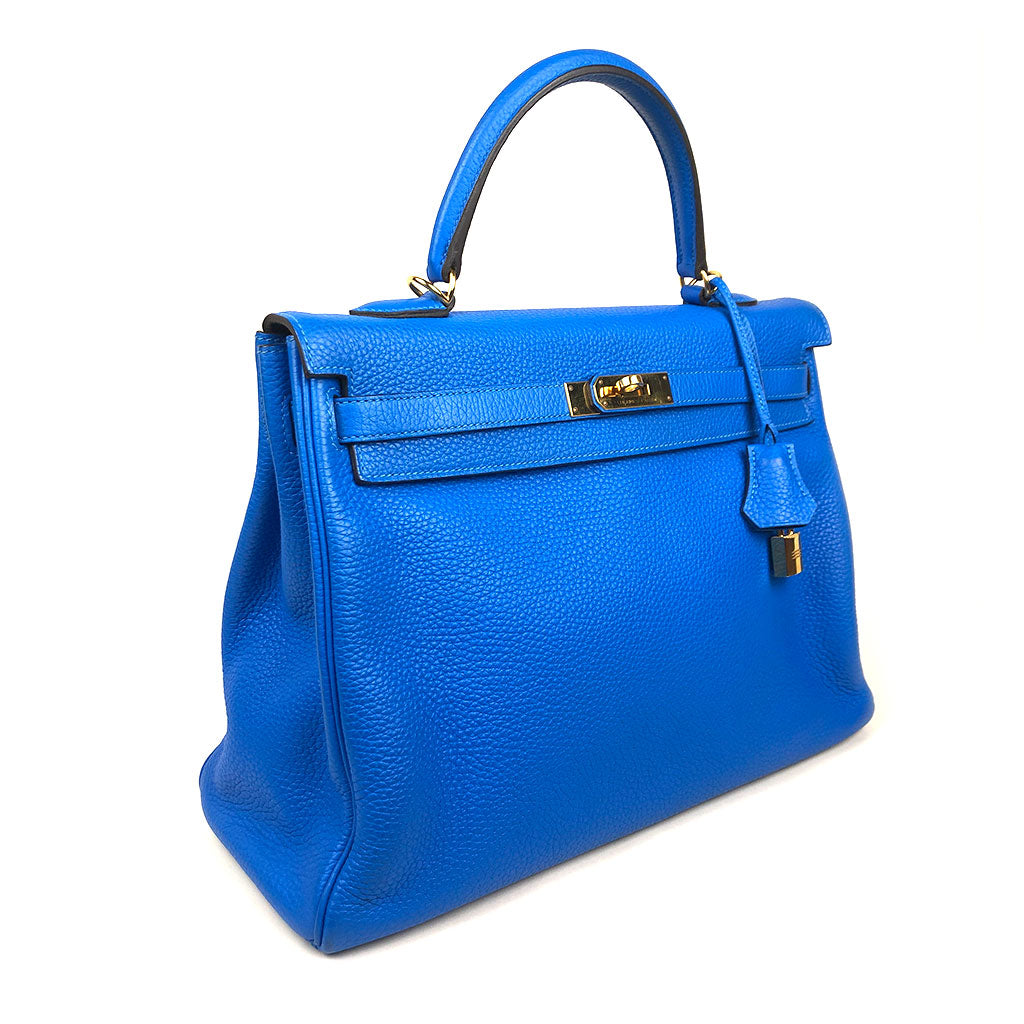 HERMES • Kelly 35 • Hydra Blue