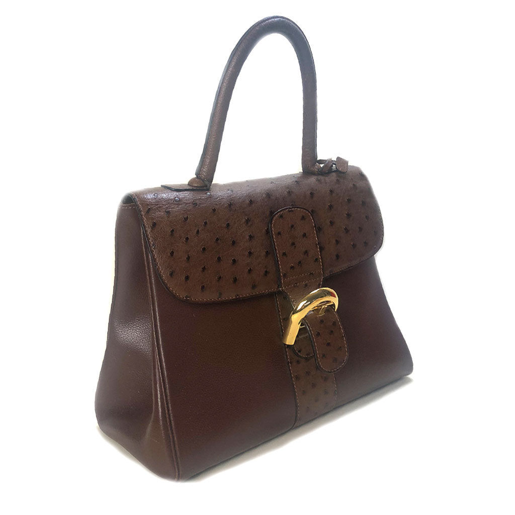 DELVAUX • Brillant MM • Brown/Ostrich