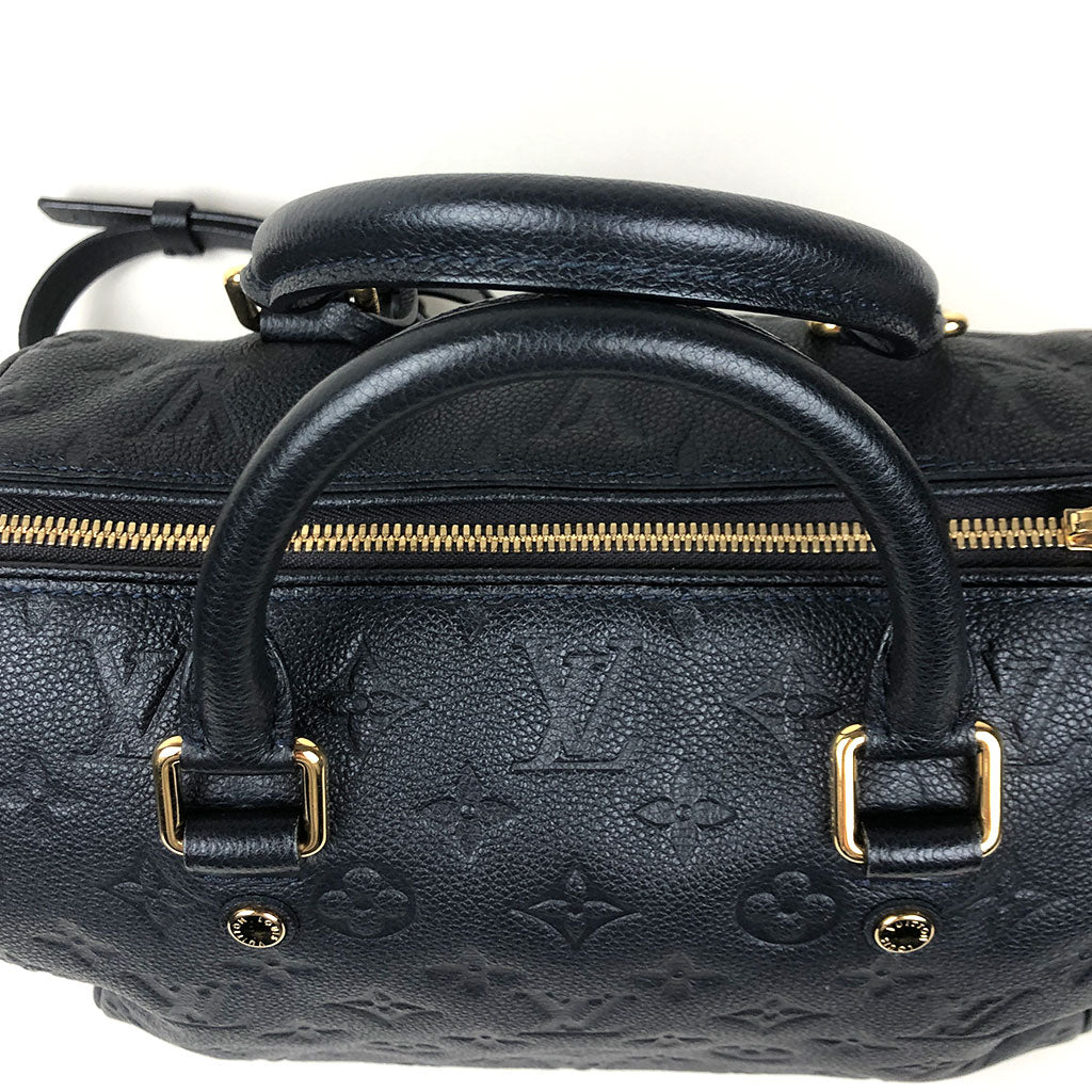 LOUIS VUITTON • Speedy Empreinte 25 • Blue