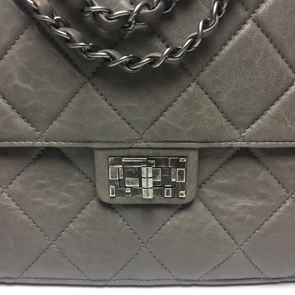 CHANEL • 2 Way Bag • Taupe