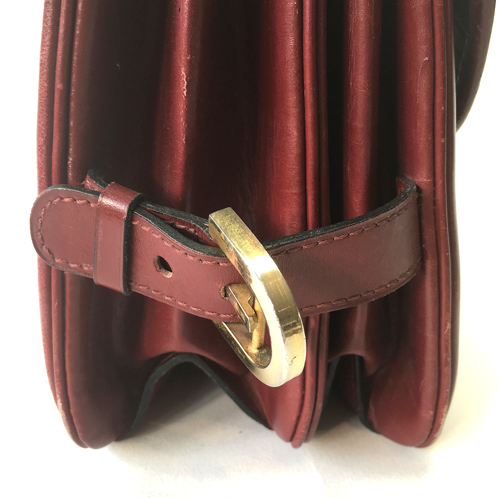 DELVAUX Top Handle Burgundy