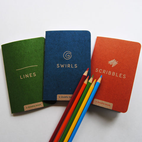 three pack - lines, swirls, scribbles