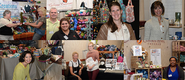a collage of different people who are all selling products for knitters
