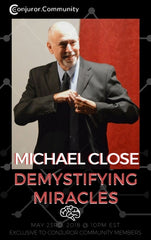 Living Room Lecture with Michael Close