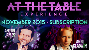 At The Table November 2015 Subscription Video DOWNLOAD - MichaelClose.com