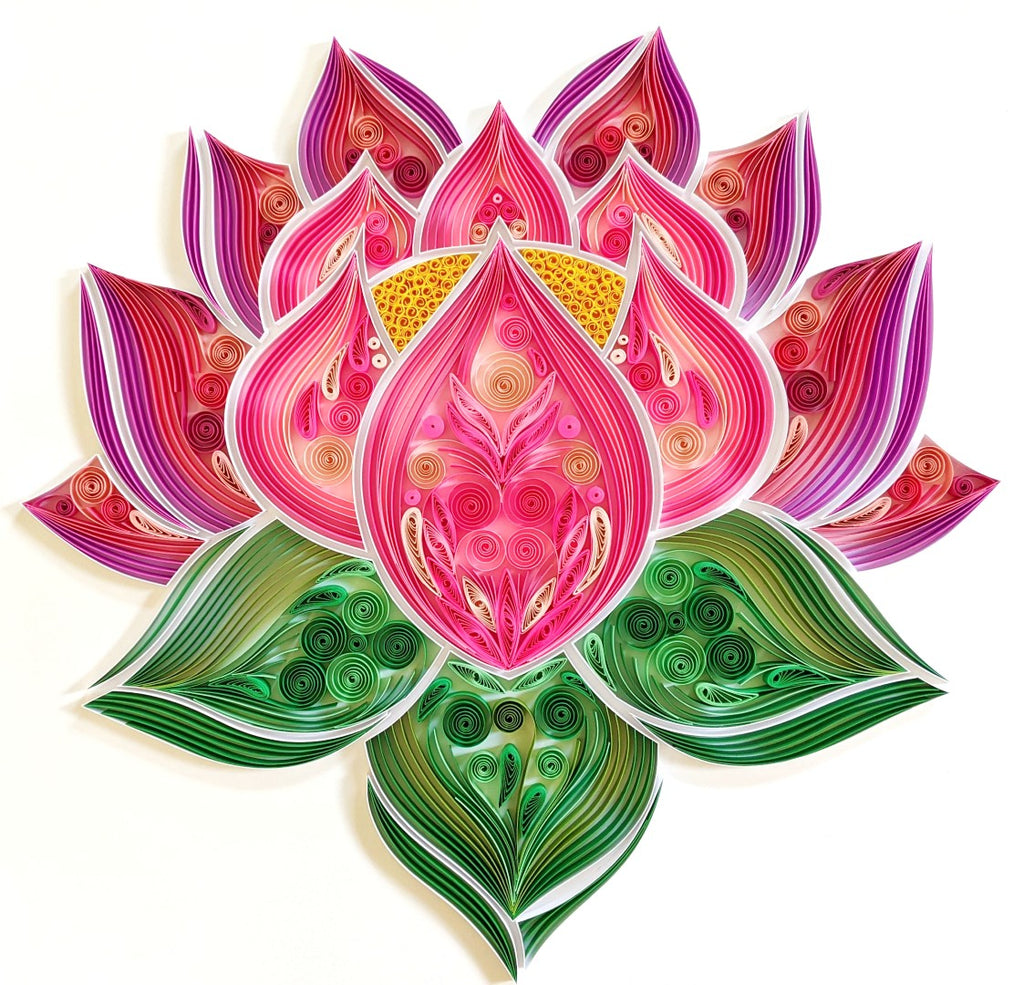1st Anniversary Paper Quilling Lotus Artwork Gift