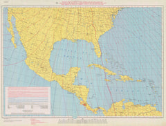 Isogonic Chart Of Mexico Central America And The West Indies