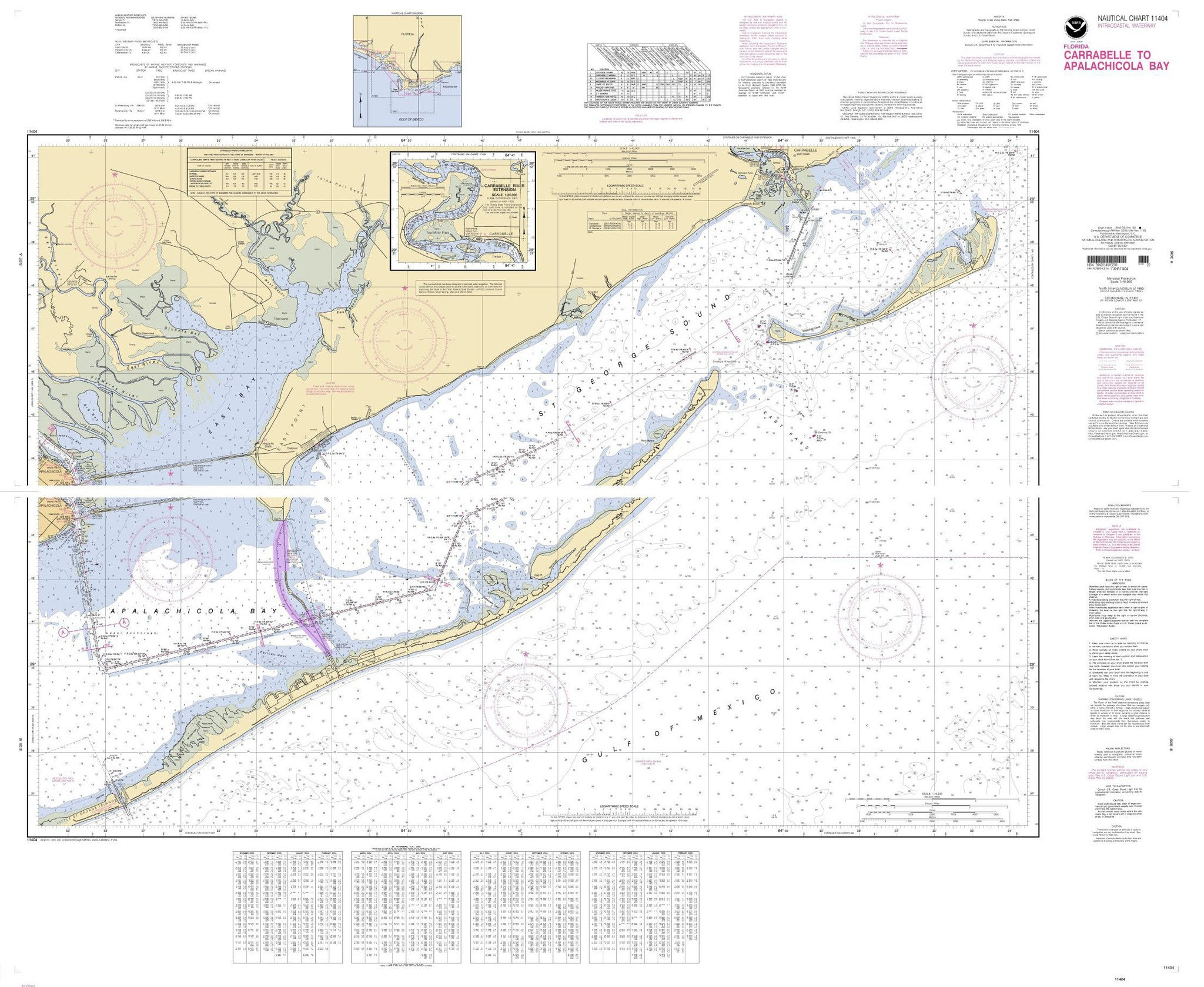 Print Of Intracoastal Waterway Carrabelle To Apalachicola Bay