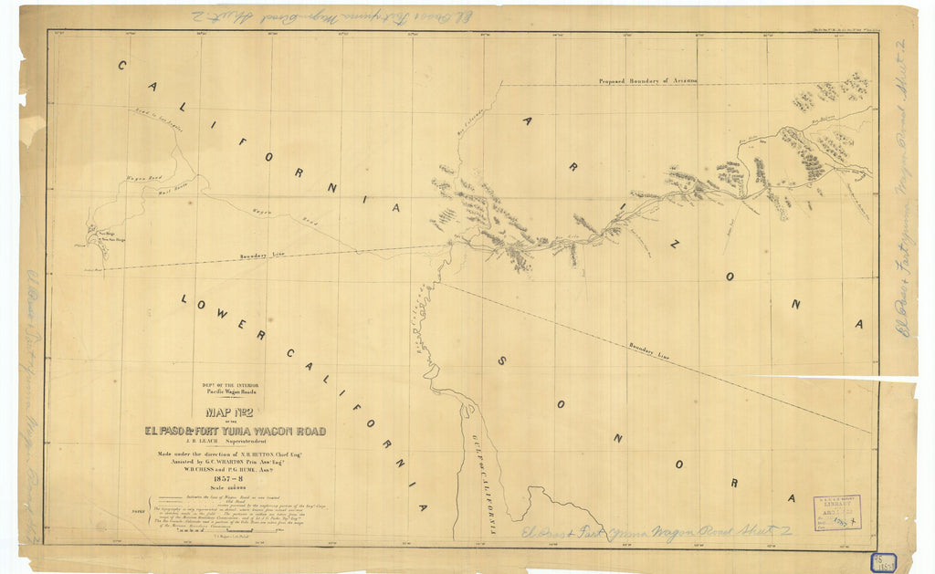 Map Number 2 Of The El Paso And Fort Yuma Wagon Road