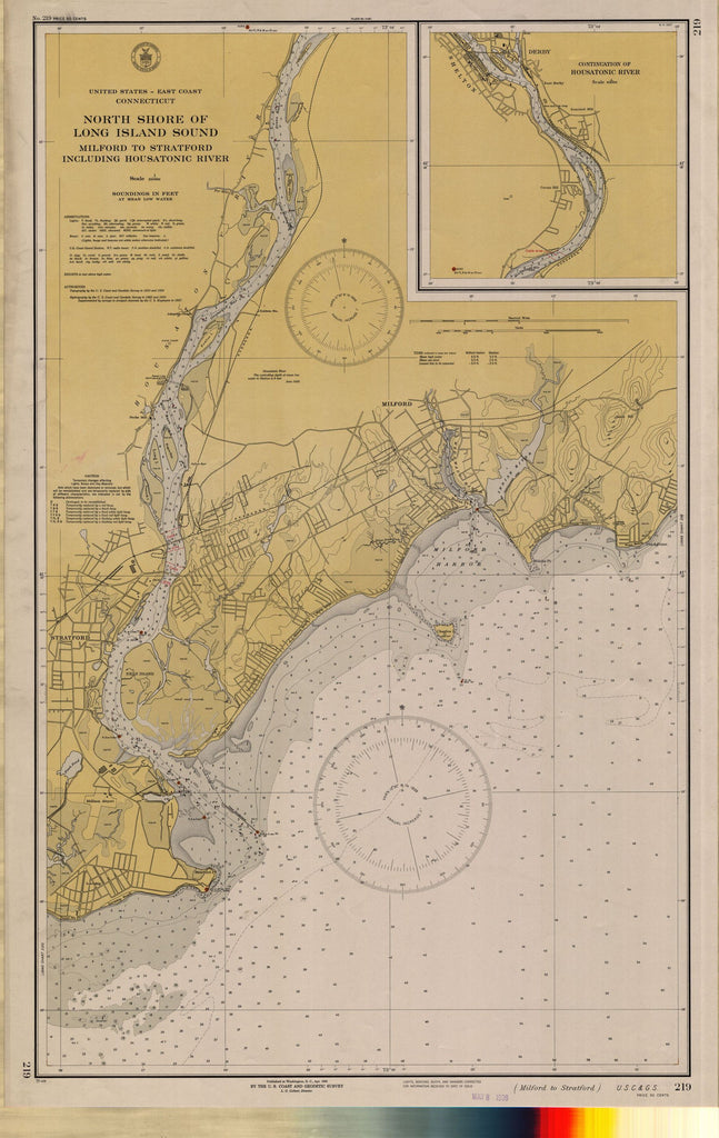 North Shore Of Long Island Sound : Miford To Stratford Including Housatonic River