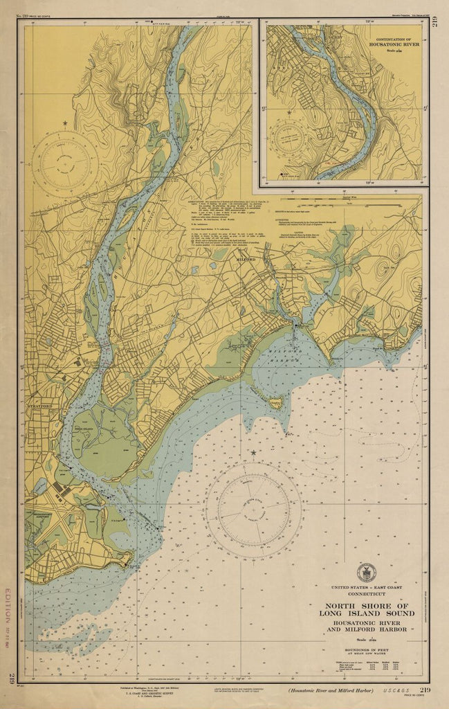 North Shore Of Long Island Sound : Housatonic River And Milford Harbor