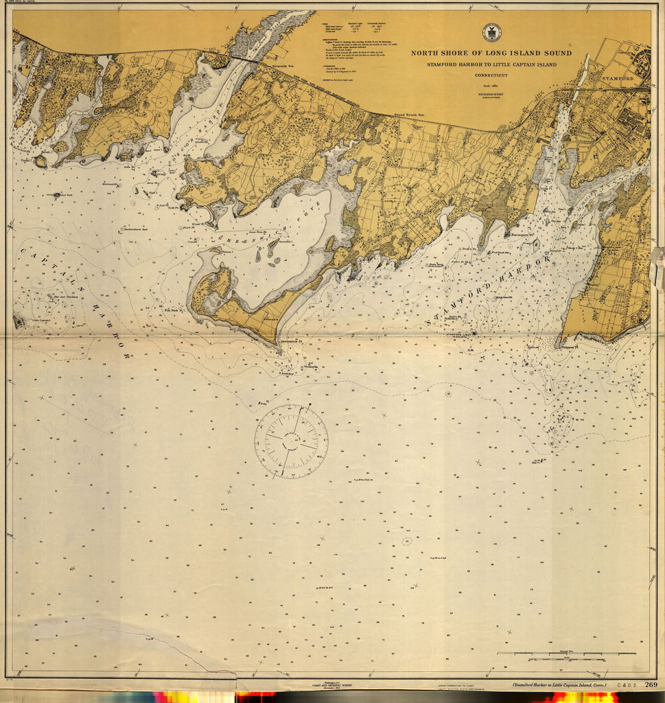 North Shore Of Long Island Sound : Stamford Harbor To Little Captain Island