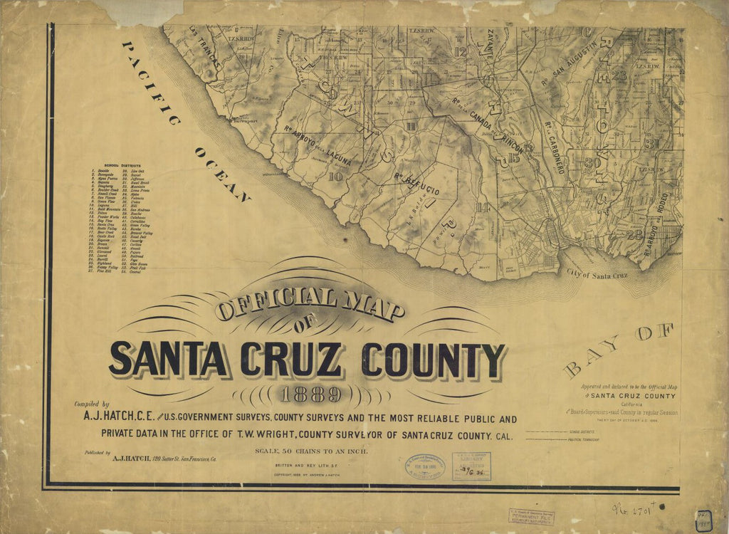 Official Map Of Santa Cruz County