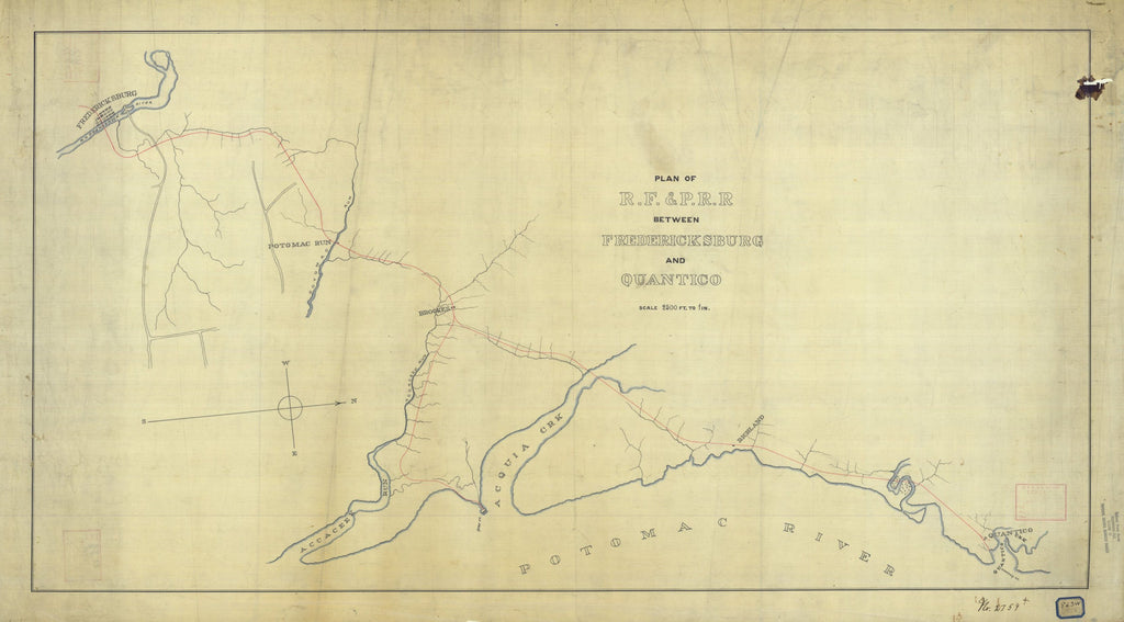 Plan Of R.f. And P.r.r. Between Fredericksburg And Quantico
