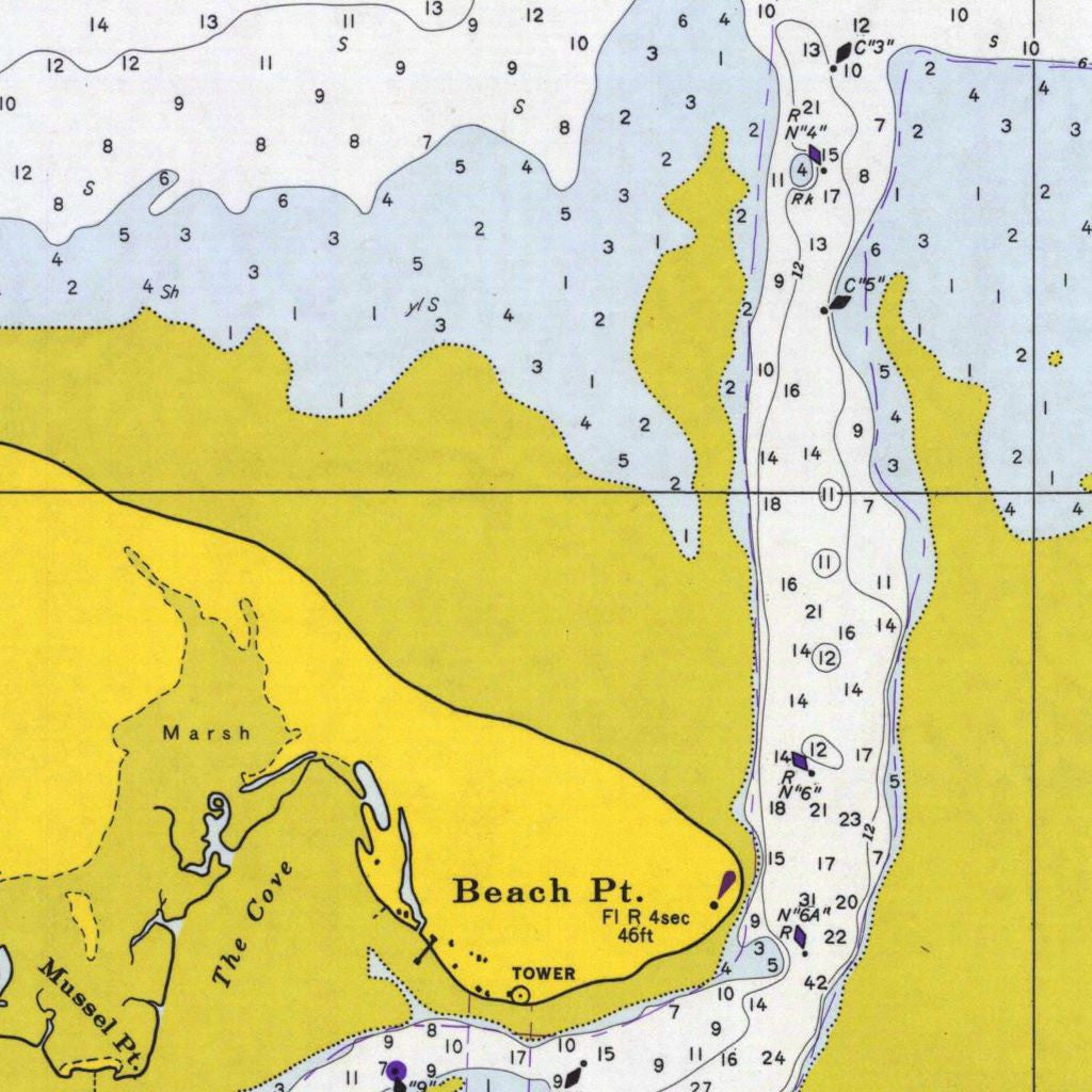 Print Of Barnstable Harbor Poster On Vintage Visualizations