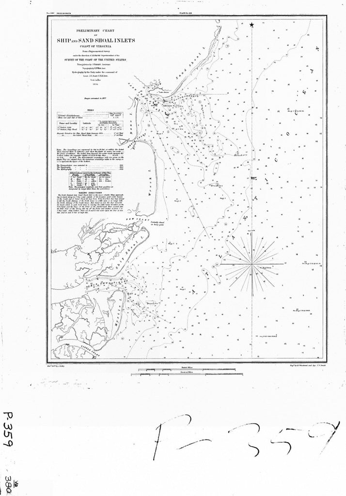 Preliminary Chart Of Ship And Sand Shoal Inlets