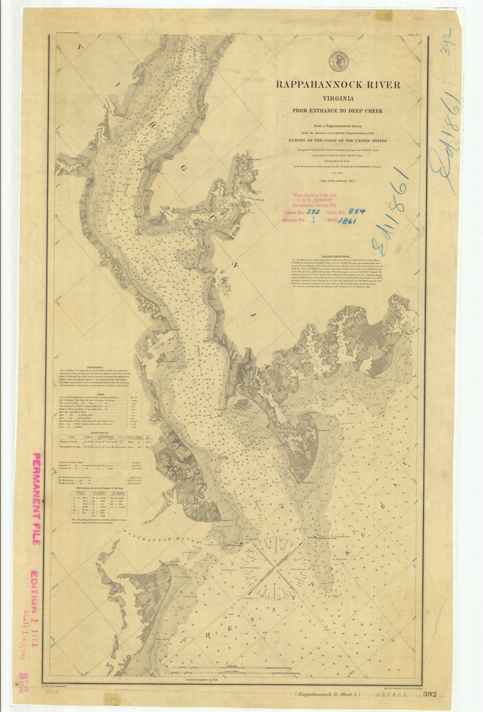 Print Of Rappahannock River From Entrance To Deep Creek Poster On