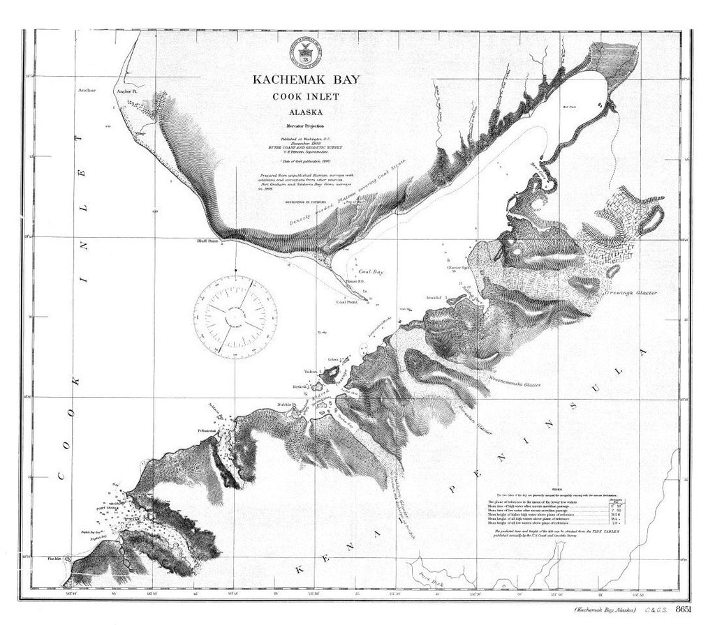 Print Of Kachemak Bay Poster On Vintage Visualizations