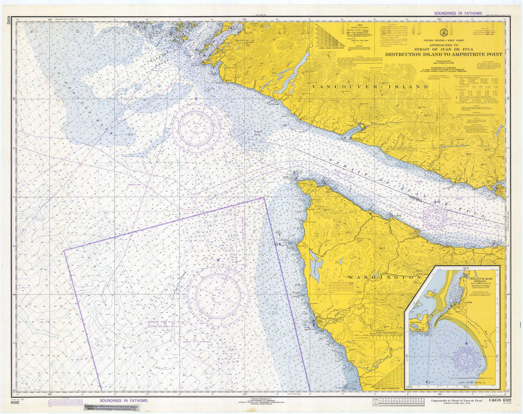 Approaches To Strait Of Juan De Fuca