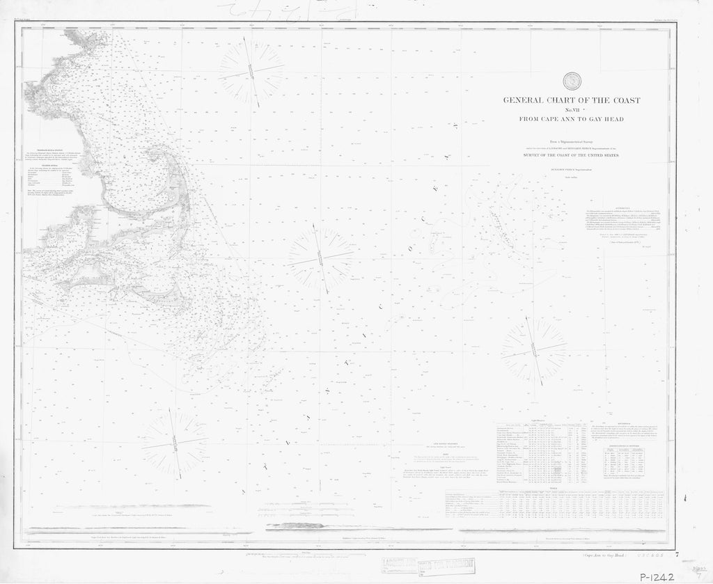 General Chart Of The Coast No.ii From Cape Ann To Gay Head