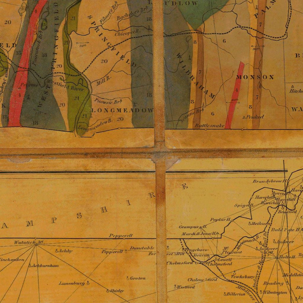 Topographical Map Of Massachusetts Sheet No. 5