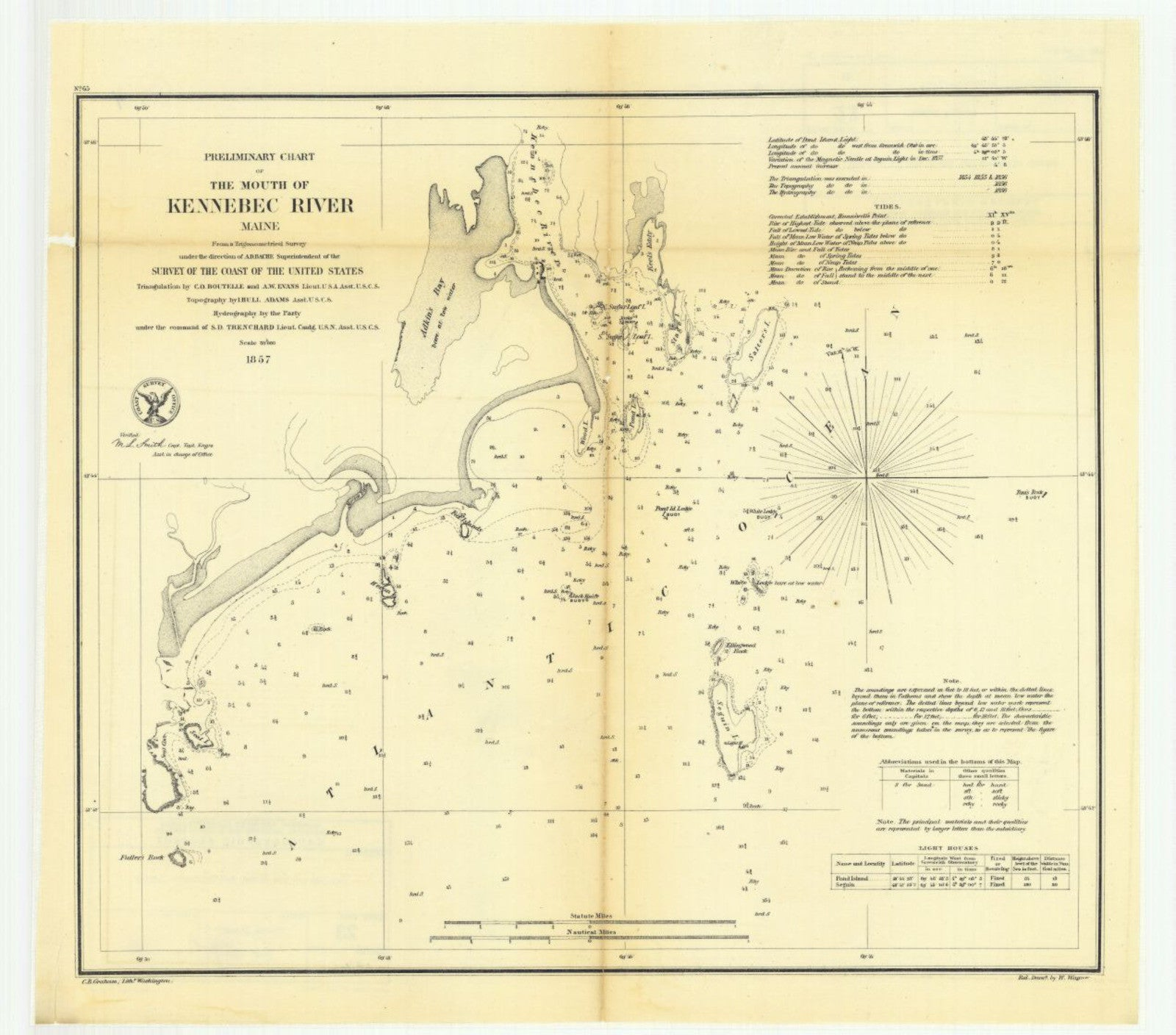Preliminary Chart Of The Mouth Of Kennebec River, Maine Print on northeast us rivers map, paris rivers map, atlanta rivers map, minnesota rivers map, washinton rivers map, maine bordering states, columbia rivers map, madison rivers map, rhode island rivers map, maine rivers and streams, maryland rivers map, washington rivers map, ontario rivers map, europe rivers map, allagash river map, florida rivers map, michigan rivers map, new york rivers map, vermont rivers map, midwest region rivers map,