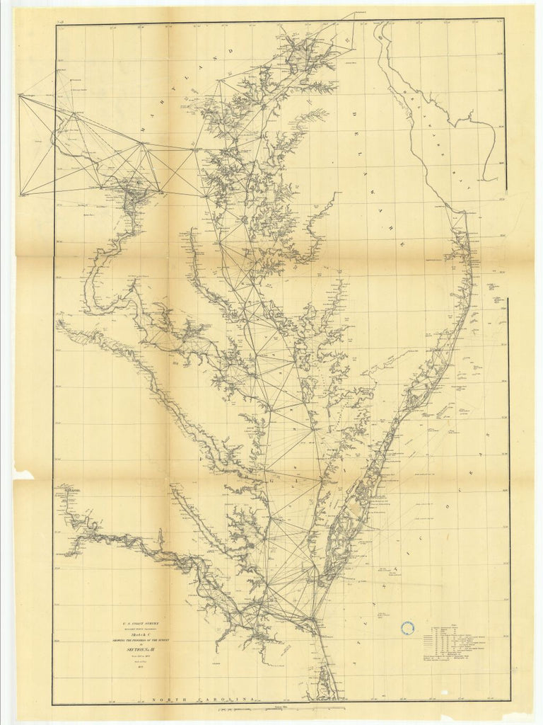 Sketch C Showing The Progress Of The Survey In Section Number 3 From 1843 To 1873