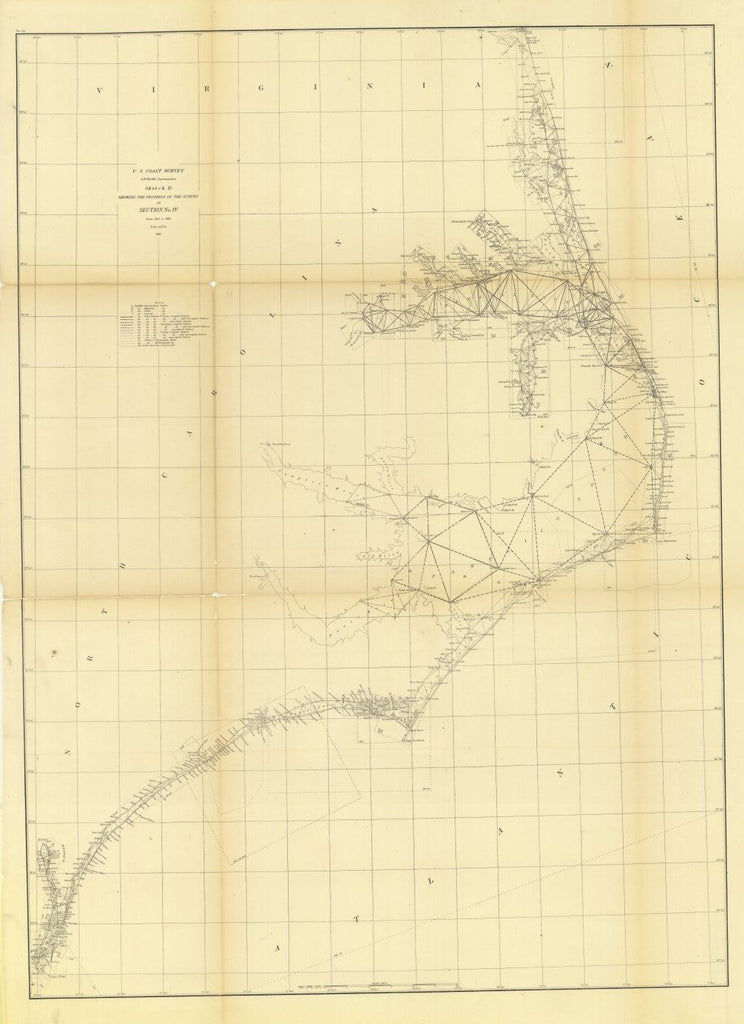 Sketch D Showing The Progress Of The Survey In Section Number 4 From 1845 To 1861