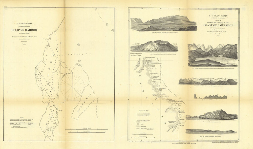 Sketch Showing The Geology Of The Coast Of Labrador With Eclipse Harbor, Labrador